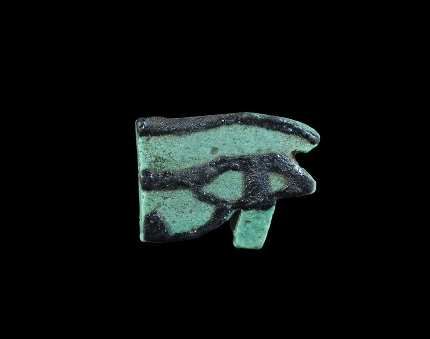 Egyptian Glazed Composition Wedjat Eye Bead