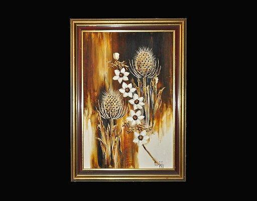 Vintage Margaret Jean Jury 'Teasels' Painting