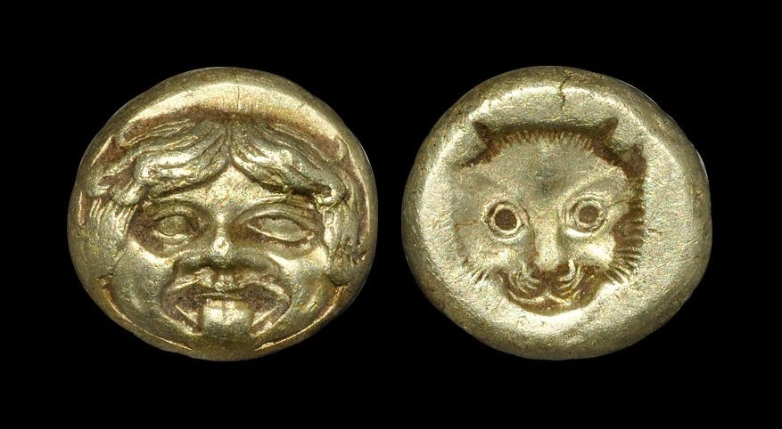 Ancient Greek Coins - Lesbos - Mytilene - Electrum Gold