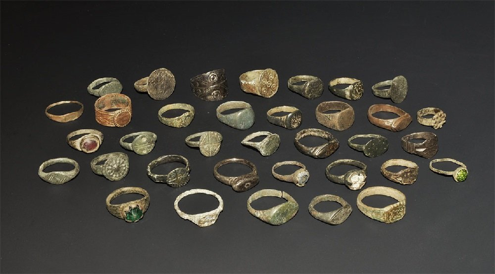 Roman to Medieval Bronze Ring Group