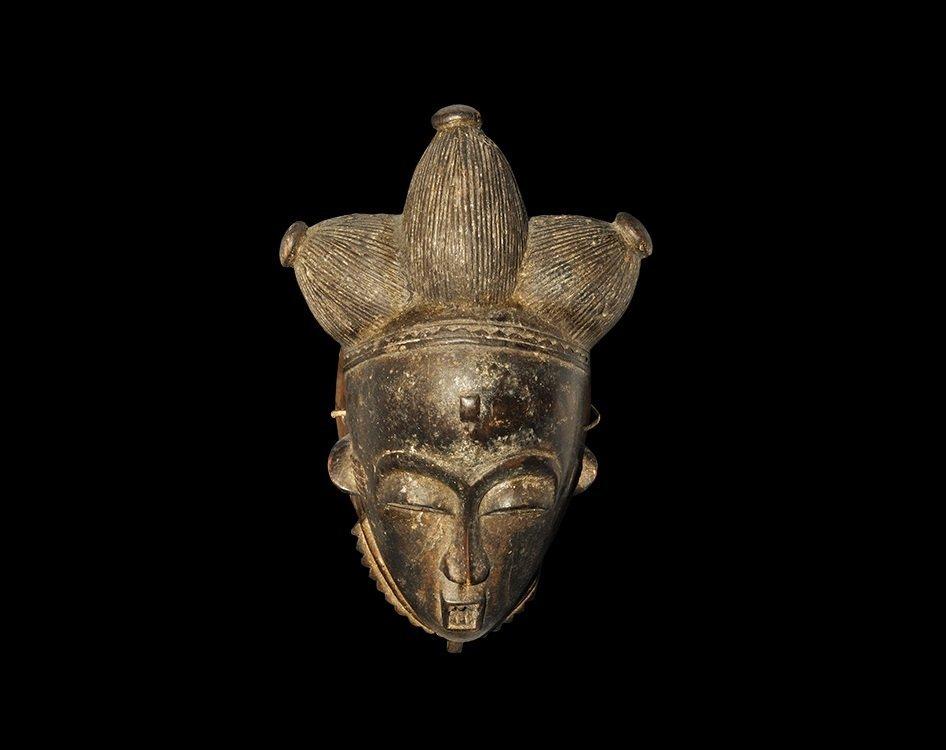 Ethnographic Africa Baule Wooden Carved Mask