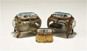Antique Edwardian GiltBronze and Crystal Scottish