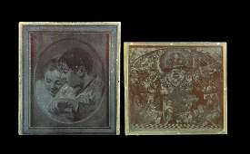 Antique Copper Printing Plate Group