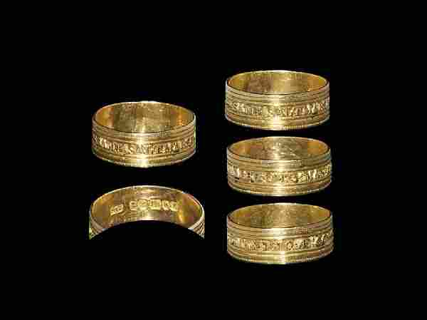 Post Medieval Gold Inscribed Ring