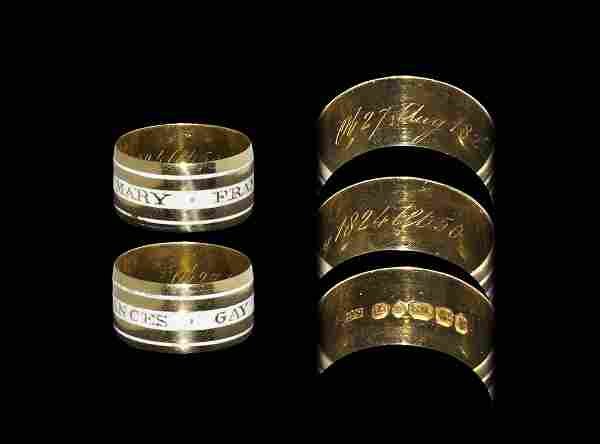 Post Medieval Gold Inscribed Ring with White Enamel