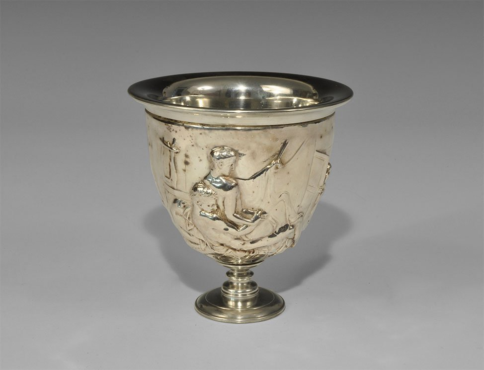 Roman Silver-Plate Replica of the Warren Cup (British