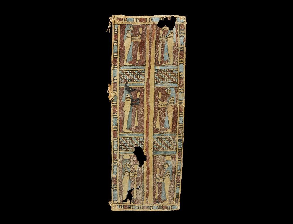 Egyptian Polychrome Cartonnage Panel