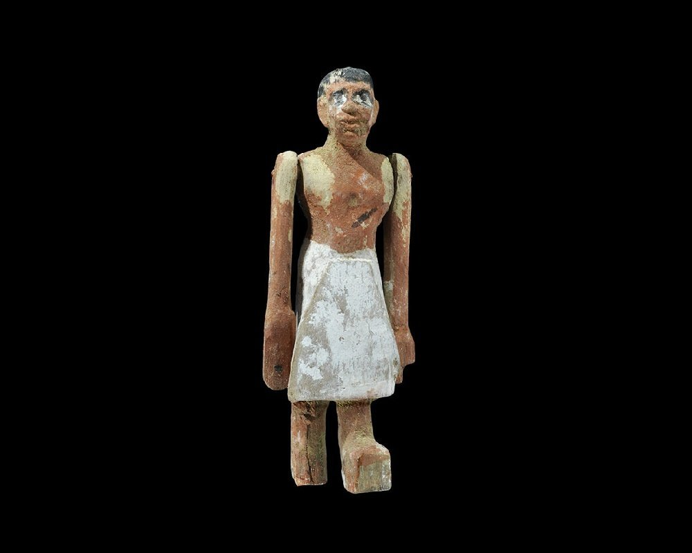 Egyptian Wooden Attendant Figure
