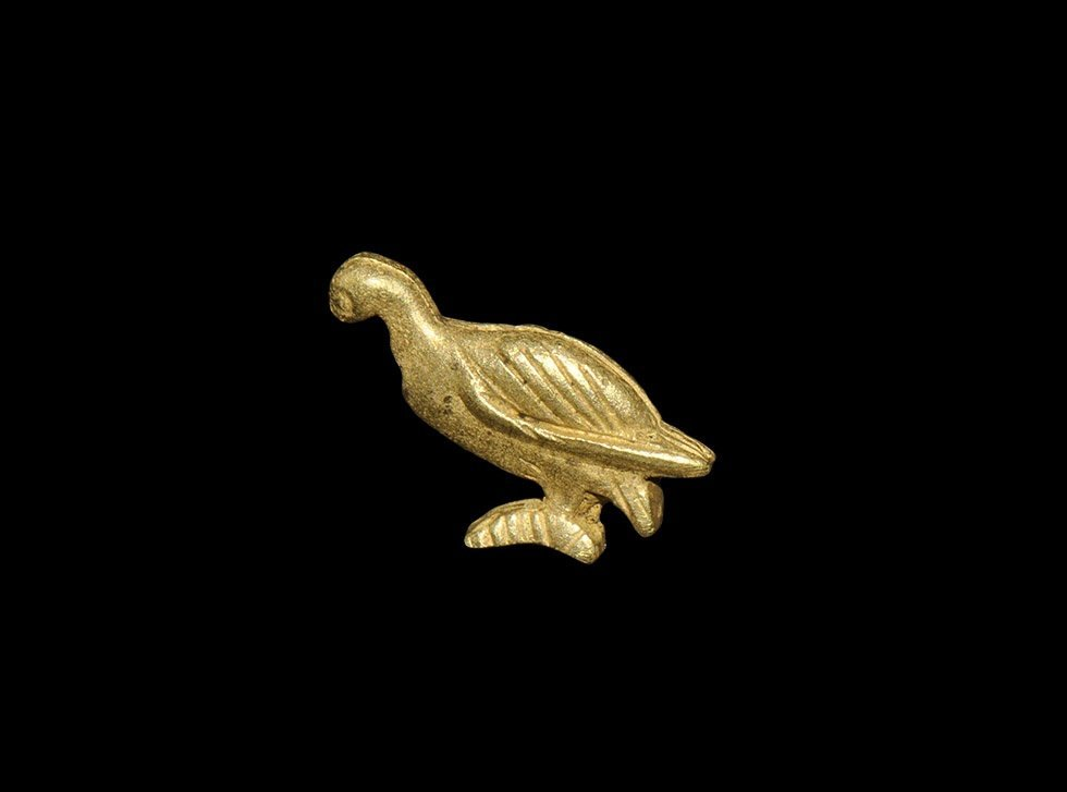 Egyptian Gold Red Breasted Goose Pendant