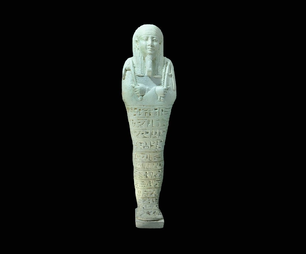Egyptian Glazed Composition 'Smen Ta Wa' Shabti