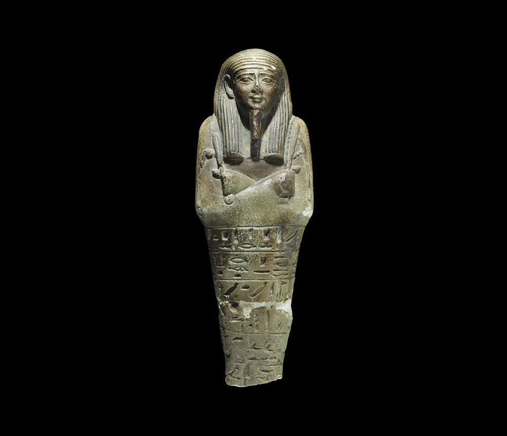 Egyptian Glazed Composition Hieroglyphic Shabti