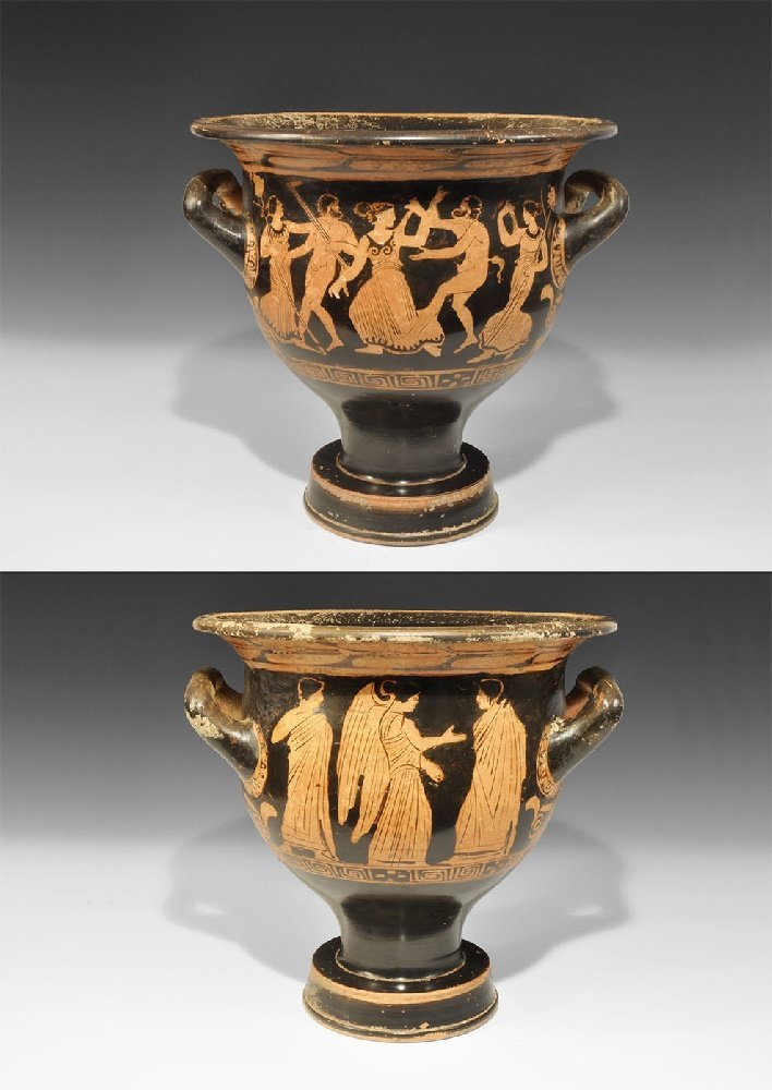 Greek Campanian Red-Figure Bell Krater