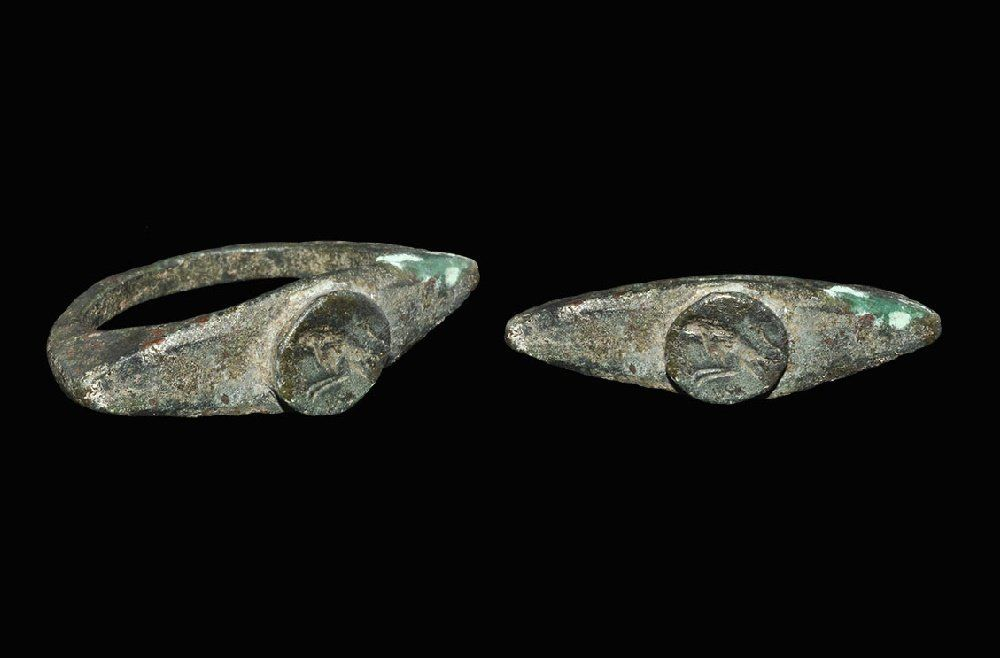 Roman Bronze Ring with Eagle