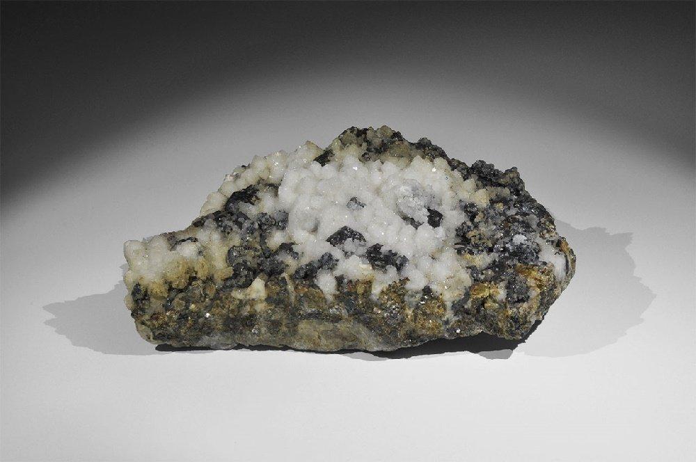 Geological Sphalerite and Quartz Mineral Specimen