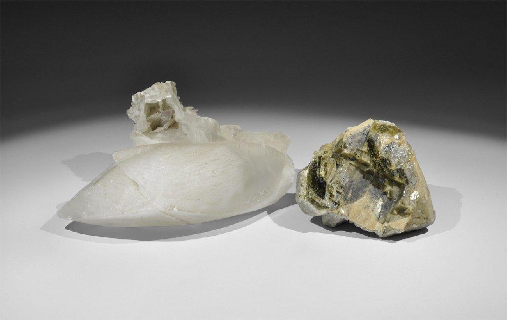 Geological Calcite Mineral Specimen Group