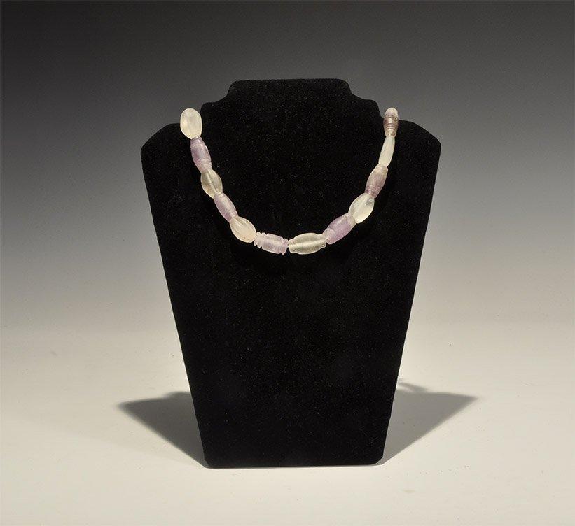 Vintage Rock Crystal and Amethyst Necklace