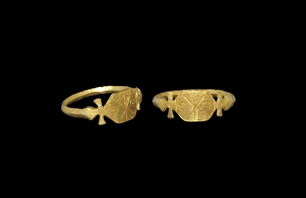 Byzantine Gold Chi-Rho Ring