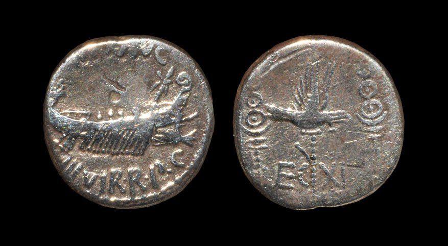 Ancient Roman Imperial Coins - Marc Antony - Legion XI