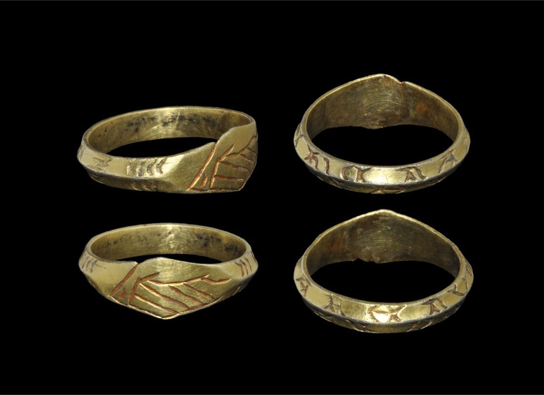 Post Medieval Tudor Silver-Gilt Inscribed Fede Finger