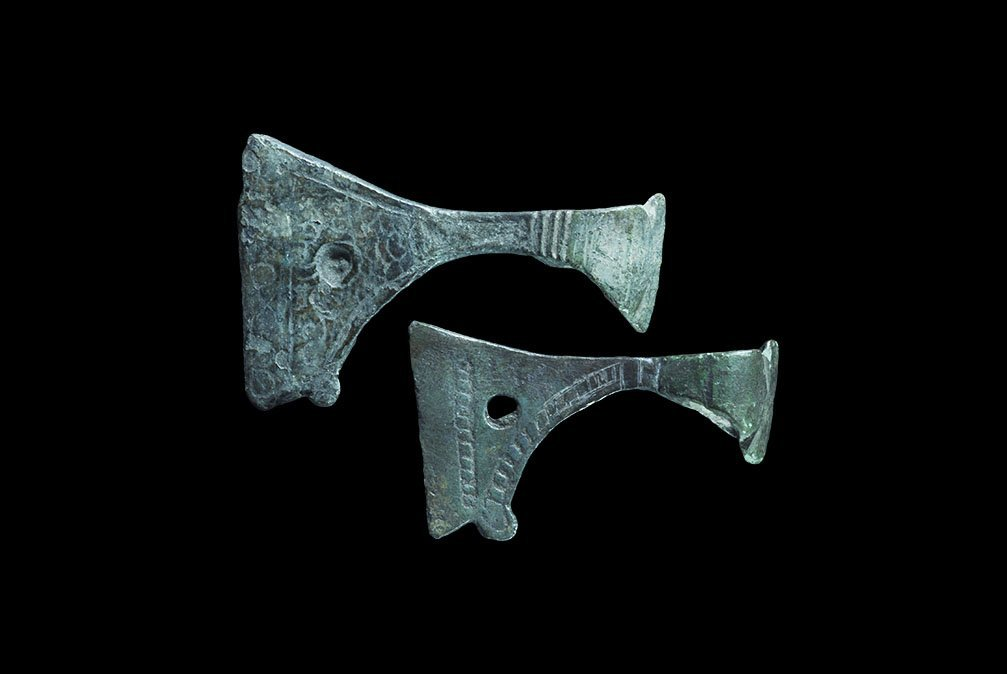 Viking Decorated Axe Pendant Pair
