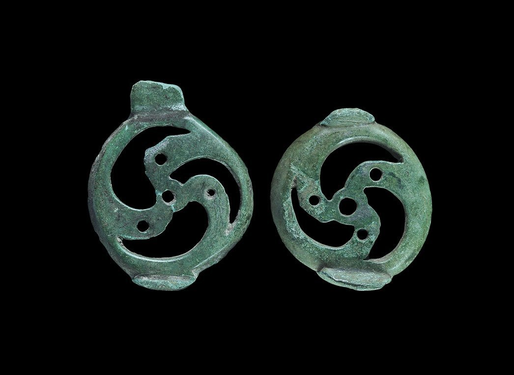 Viking Trefoil Mount Pair