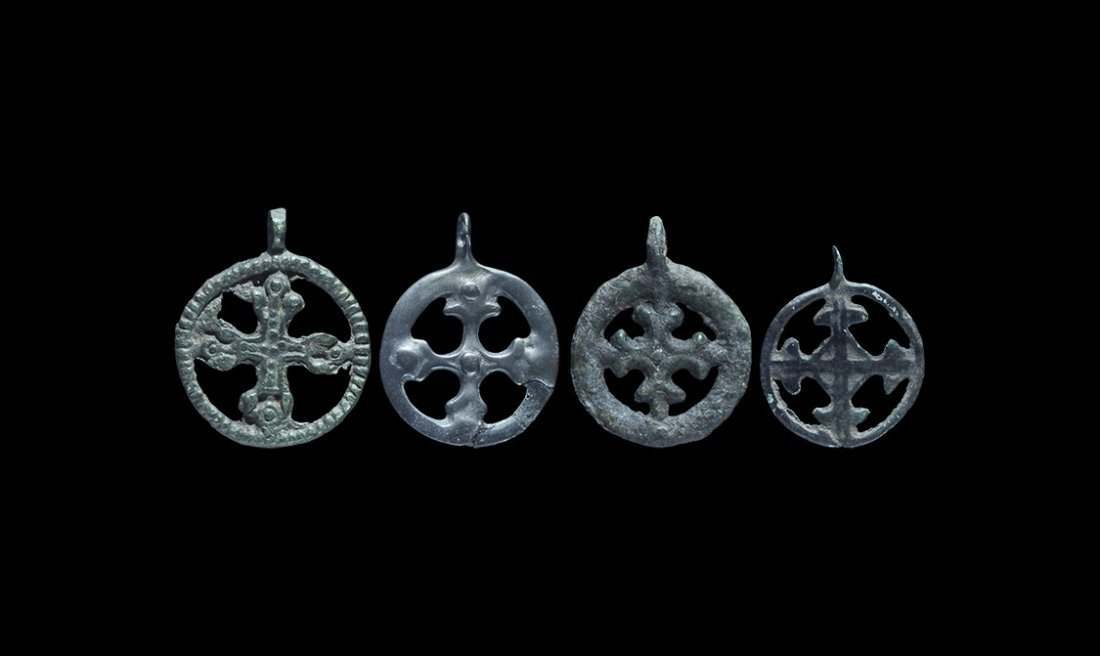 Viking Openwork Cross Pendant Group