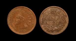 World Coins - USA - 1869 - Indian Head Cent