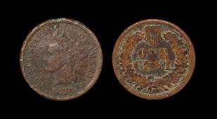 World Coins - USA - 1870 - Indian Head Cent