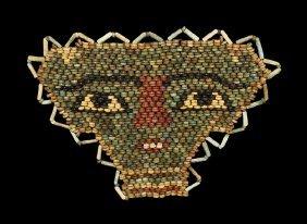 Egyptian Beaded Mummy Face Mask