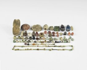 Egyptian Amulet And Bead Group