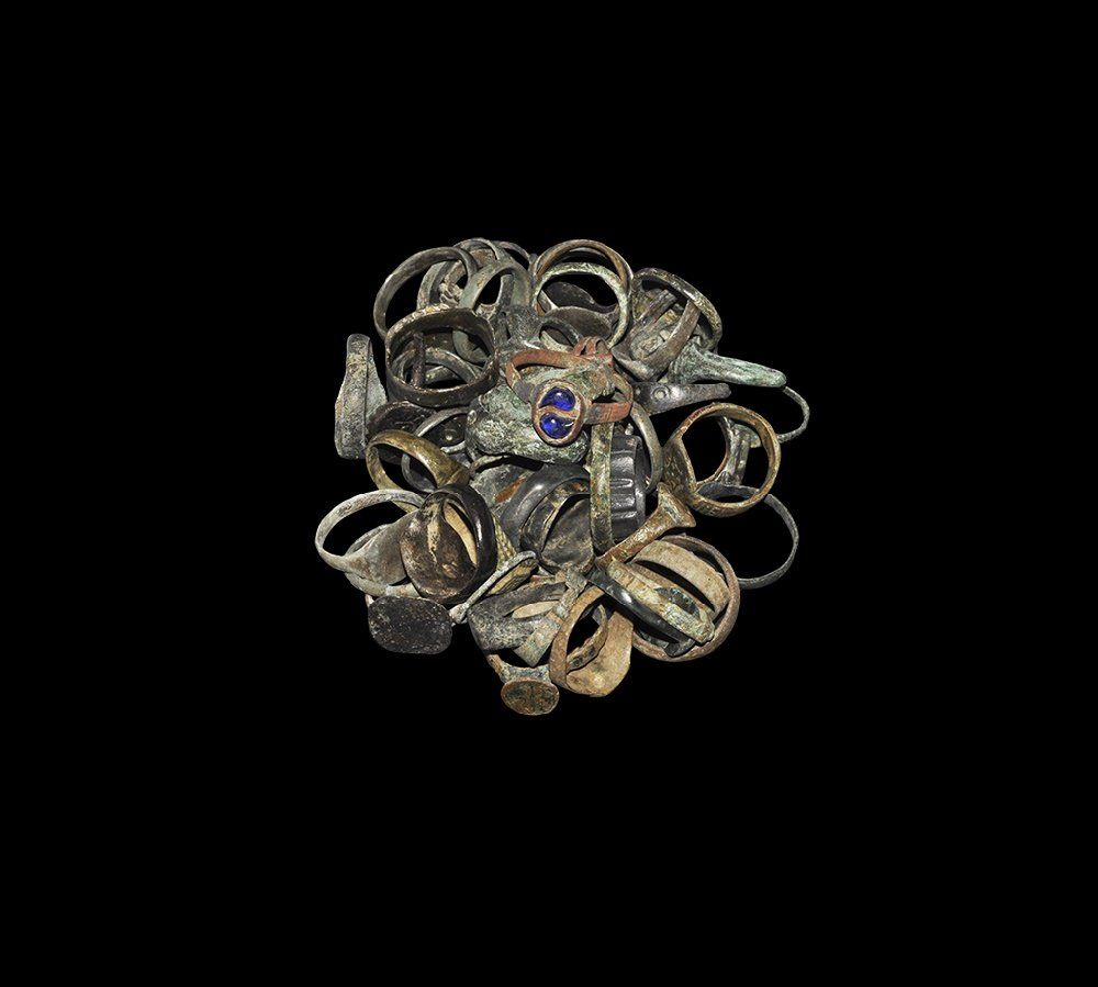 Roman to Post Medieval Large Ring Collection
