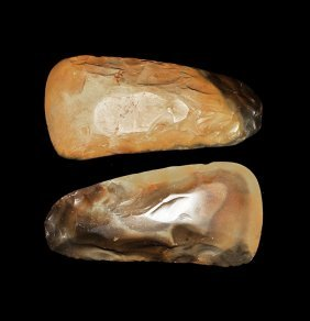 Stone Age Knapped And Polished Axehead