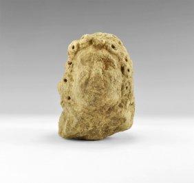 Romano-british Carved Male Head