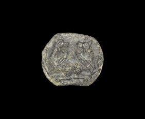 Medieval Patrix Die With Griffins