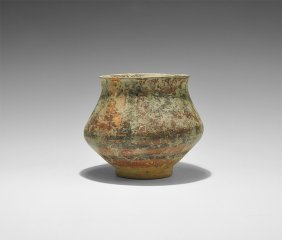 Indus Valley Polychrome Vessel With Bulls