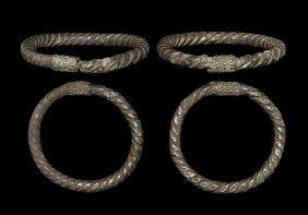 Western Asiatic Achaemenid Bracelet Pair