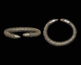 Western Asiatic Achaemenid Serpent-headed Bracelet