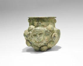 Western Asiatic Luristan Jar With Face