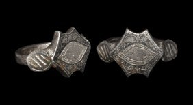 Islamic Ring With Niello Ornament