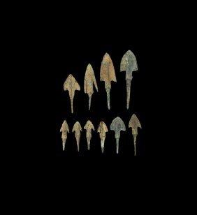 Western Asiatic Luristan Arrowhead Collection