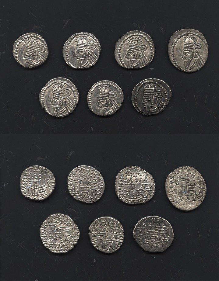 Ancient Greek Coins - Parthia - Osroes II - Seated