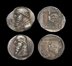 Ancient Greek Coins - Parthia - Mithradates Ii - Drachm