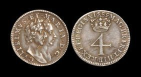 English Milled Coins - William And Mary - 1689 - Groat