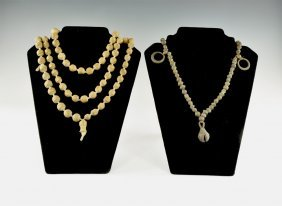 Ethnographic North African Bead Necklace Group