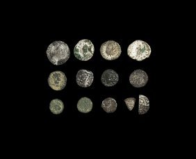 Ancient Roman Imperial To Tudor Coin Group [13]