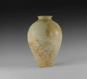 Chinese Glazed Whiteware Jar