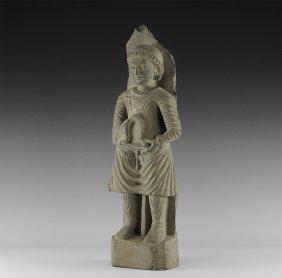 Gandharan Attendant Statuette