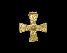 Saxon Gold Cross With Beasts