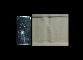 Western Asiatic Old Babylonian Cylinder Seal With Lamma