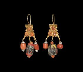 Islamic Gold Earrings With Beads